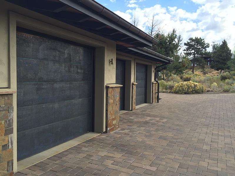 custom sheet metal garage door panels